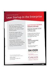 Lean Startup flyer